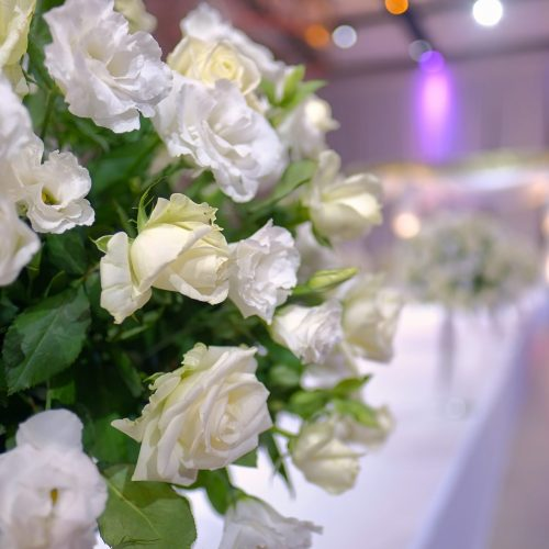 Close,Up,A,Bouquet,Of,Flowers,At,A,Wedding,Jewish